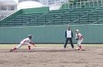 久留米球場での練習